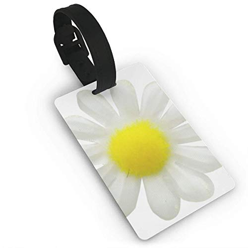 BJtiananmen Beautiful Daisies Personalized Customization Luggage Tags is PVC Material, Durable Very Suitable for Men and Women in Luggage ()