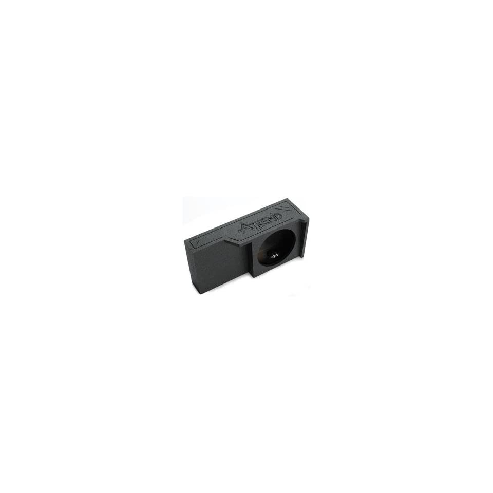 Atrend Enclosures 10 Single Down Firing Enclosure   2004 Up Ford Super Crew & Extended Cab Black