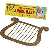 Bristol Novelties Angel Harp Gold Colour