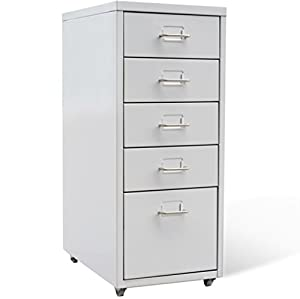 SKB Family Metal Filing Cabinet With 5 Drawers Gray Lateral Steelcase  Furniture