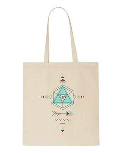 Pattern Ancient Shopper Tote Four Aztec Bag Beige Sacred Geometric Shape qIaZqw