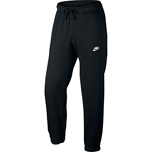 Nike Mens Sportswear Cuffed Fleece Sweatpants Black/White 804406-010 Size Large