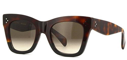 Authentic Celine CL 41090/S AEA/Z3 Havana Black Sunglasses
