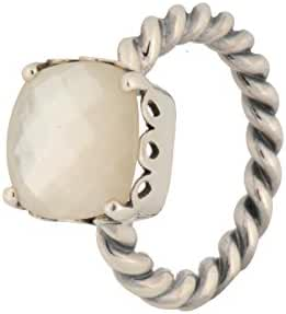 PANDORA Elegant Sincerity Twist Mother of Pearl Ring Size 6 - 190828MP-52