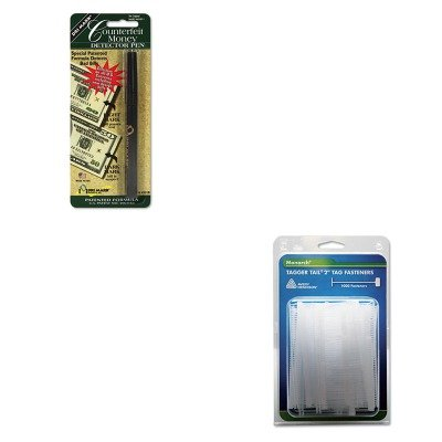 KITDRI351B1MNK925045 - Value Kit - Monarch Marking Tagger Tail Fasteners (MNK925045) and Dri-mark Smart Money Counterfeit Bill Detector Pen for Use w/U.S. Currency (Monarch Marking Tagger Fasteners)