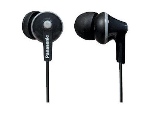 Panasonic ErgoFit In-Ear Earbuds Headphones with Mic/Controller RP-TCM125-K (Black)