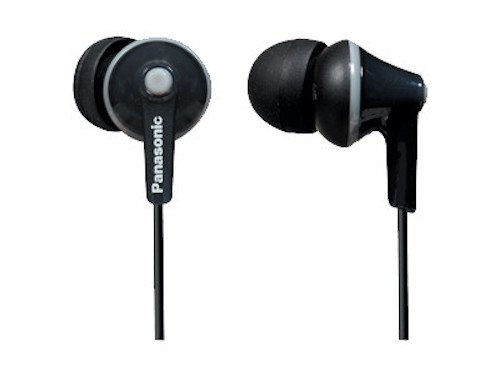 Panasonic RP-TCM125-K In-Ear Buds w/Mic & Remote, Black