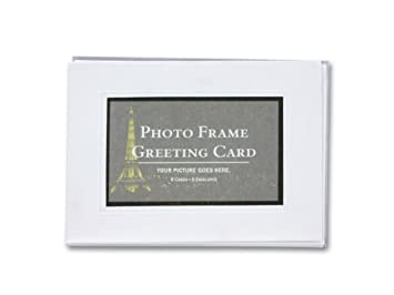 Blank photo frame greeting cards amazon office products blank photo frame greeting cards m4hsunfo