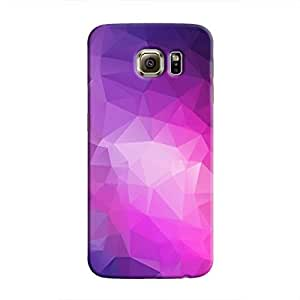 Cover It Up - Pink Purple Pixel Triangles Samsung Galaxy S6 Hard Case
