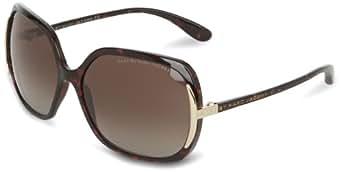 Marc by Marc Jacobs Women's MMJ115PS Polarized Rectangular Sunglasses,Dark Havana Frame/Brown Lens,One Size