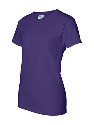 Gildan Activewear Ultra Cotton Ladies' Tee Shirt, 3XL, Purple - Gildan Ladies Tee
