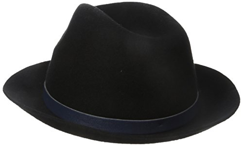 Genie by Eugenia Kim Women's Jordan Wool Felt Fedora Hat with Vegan Leather Belt, Black, One Size