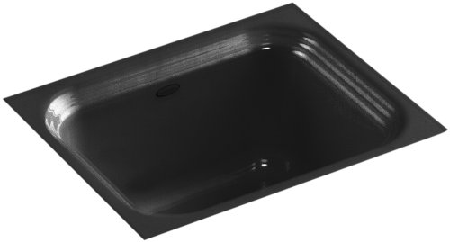 - KOHLER K-6589-U-7 Northland Undercounter Entertainment Sink, Black Black