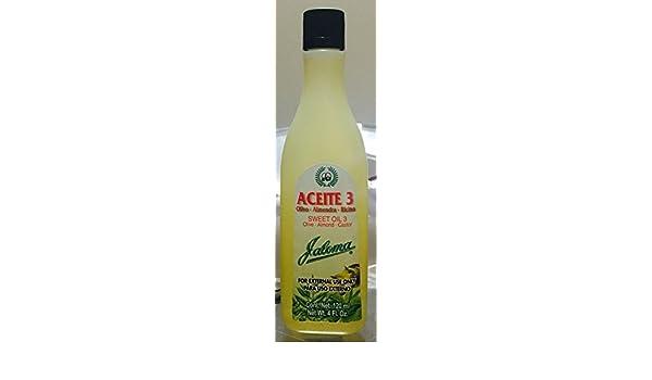 Amazon.com : Aceite 3 En 1, Olivo, Almendras & Ricino Jaloma/Olive, Almonds & Castor Oils by Jaloma : Beauty