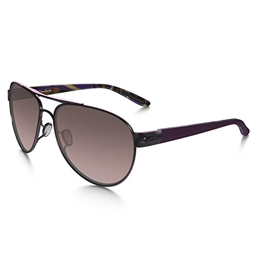 Oakley Women's Disclosure OO4110-01 Aviator Sunglasses, Blackberry, 58 - Oakley Aviator Womens Sunglasses