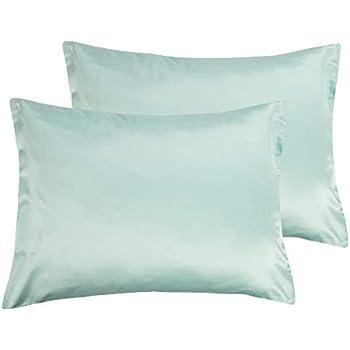 Amazon Com Dreamhome Satin Pillow Case With Zipper 2