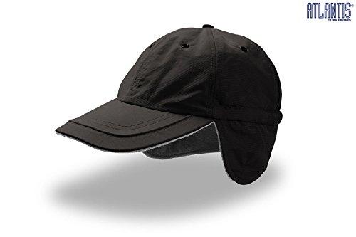 Techno Earflap Baseballcap mit Teflon one size,Schwarz