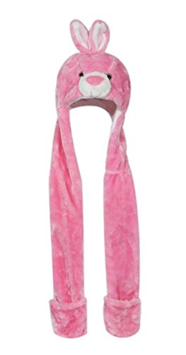 ty Animal Hat: One Size Fits All Adults & Kids/Soft, Warm Beanie Hat (Pink Bunny) ()