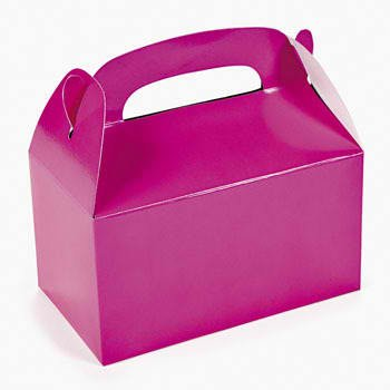 Fun Express Dozen Hot Pink Treat Boxes ()