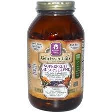 Genessentials Superfruit huile 3,6,7,9 Blend Genesis Today Inc 180 Caps