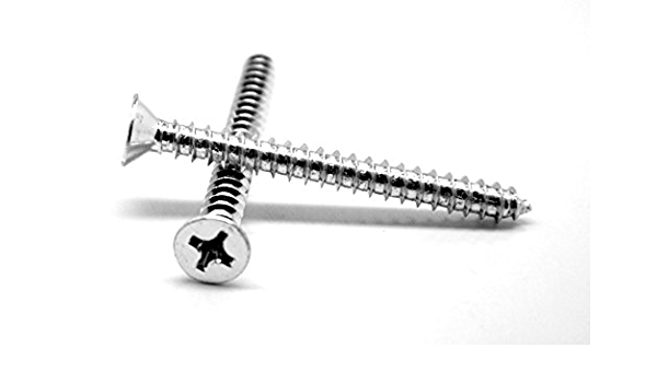 """Slotted Oval Head Sheet Metal Screw Stainless Steel #14 x 1-3//4/"""" Qty 25"""