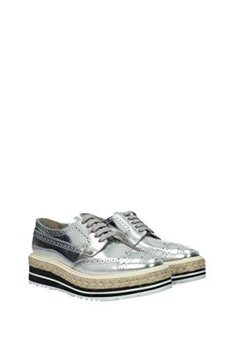 Prada Schnürschuhe und Monkstrap Damen - Leder (1E722EVITSPECCHIO) EU Silber