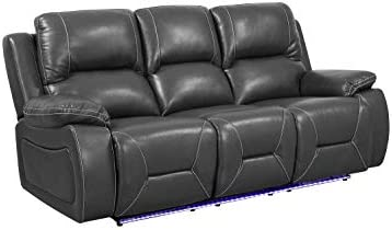Blackjack Furniture The Cameron Collection Leather Air Contemporary Upholstered Power Reclining Living Room