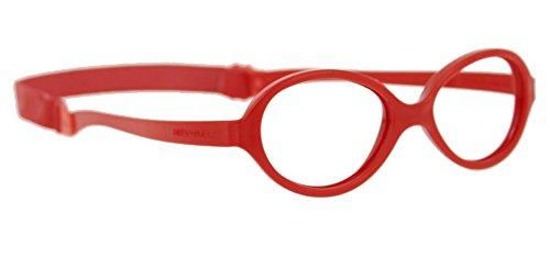 Miraflex Baby One37 Kids Eye Glass Frames | 37/14 | Red | Age:1-3 Yrs. by Miraflex