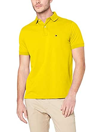 TOMMY HILFIGER Men's Button-Down Polo Shirt, Empire Yellow, Small