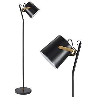 CO-Z Vintage Floor Lamp Black Adjustable, Industrial Standing Lamp with Metal Shade, Rustic Floor Lamp Task for Living Room Bedroom Reading Office.