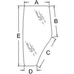 R198624 New LH Door Glass Made to fit John Deere T