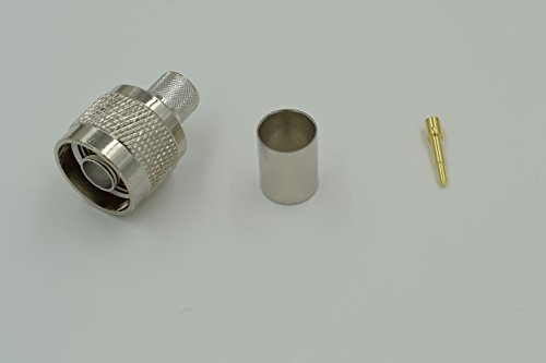 10pcs N Male Plug Crimp Plug Connector for LMR400 RG8 RG213 RG214 Cable RF (Uhf Crimp Plug)