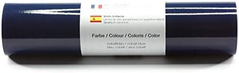 Lámina de plotter autoadhesiva lámina de vinilo 21 cm x 3 m brillo 39 colores a elegir, Glänzend L-Serie:Azul Cobalto: Amazon.es: Hogar