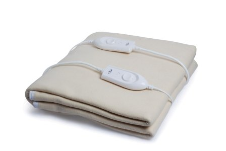 Expressions 350 TC Polyester Double Electric Bed Warmer Under Blanket - Solid, Brown
