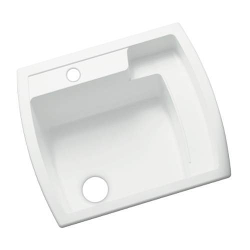 Sterling 995-0 Latitude 25-inch by 22-inch Top-mount Single Bowl Vikrell Utility Sink, White (Top 22 Single Mount)