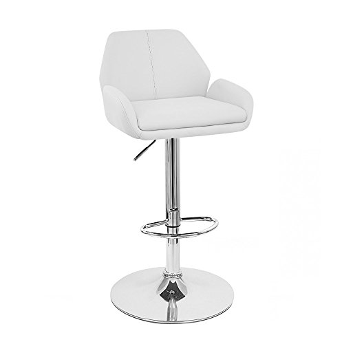 Tesla Contemporary Leather Adjustable Barstool – Espresso