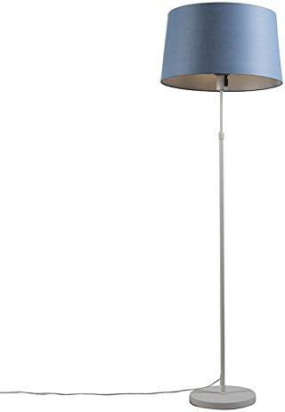 QAZQA Moderno Lámpara de pie PARTE blanca con pantalla azul Plástico/Metálica Redonda/Alargada Adecuado para LED Max. 1 x Watt: Amazon.es: Iluminación