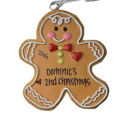 Gingerbread Man Personalized Ornament - (Unique Christmas Tree Ornament - Classic Decor for A Holiday Party - Custom Decorations for Family Kids Baby Military Sports Or ()