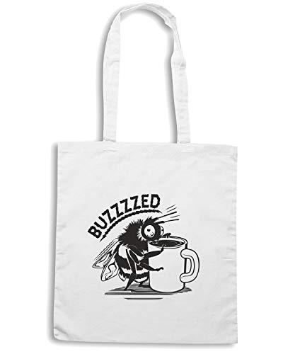Speed Shirt Borsa Shopper Bianca FUN0274 COFFEE BUZZED