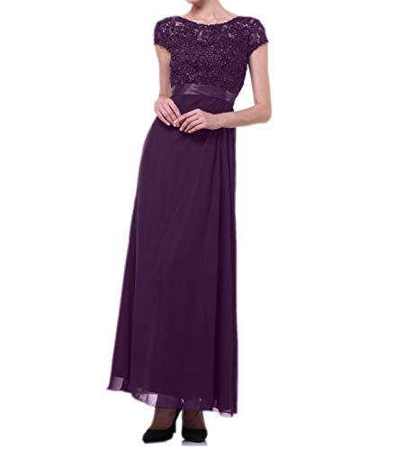 Festlich Etuikleider Ballkleider Kurzarm Abendkleider Brautmutterkleider mia Figurbetont La Traube Chiffon Spitze mit Braut EwSxq08