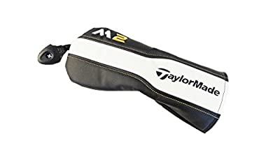 NEW TaylorMade M2 Black/White/Gold Leather Fairway Wood Headcover