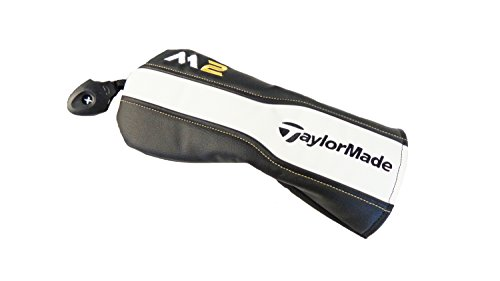 Fairway Wood Headcover (NEW TaylorMade M2 Black/White/Gold Leather Fairway Wood Headcover)