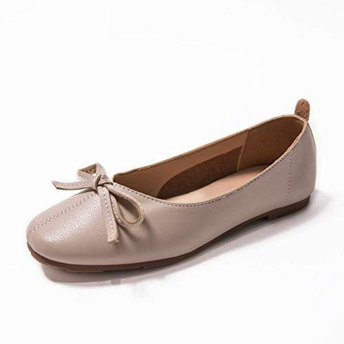 FLYRCX Dulce Baja Planos y B del La Zapatos los de Arco Resorte Moda de Boca Calza Trabajo del del cómodos otoño Zapatos Casual la rqErCwSH