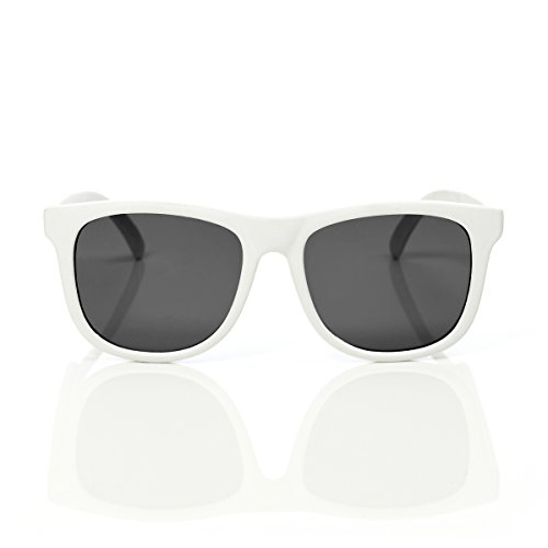 FCTRY Baby Opticals - Polarized Sunglasses w/ Strap - Kids/Girl/Boy (White UV)(Ages - Newborns Sunglasses For