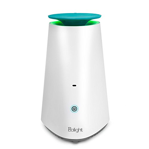 Balight Desktop Hepa Air Purifier with Essential Oil Diffuser Portable Air cleaner for Small Room, Office Desk, Quiet Allergies Eliminator of children, Pet, Smoker, Dust, Germ, Mold, Dander, Odor