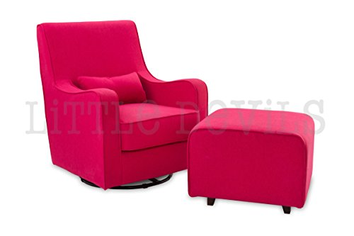 The NEW Hush Hush 360 Swivel Glider/Rocking Nursing Chair (in Deep Pink) – The Modern Glider that combines simple lines with exceptional comfort