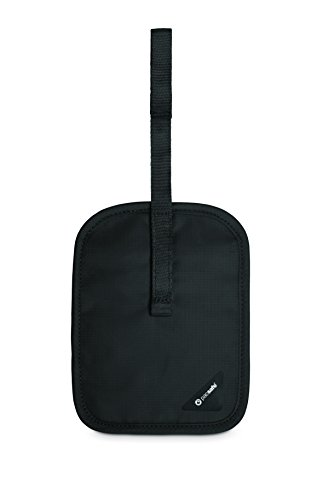 Pacsafe Coversafe V60 Anti-Theft RFID Blocking Secret Belt Wallet, Black