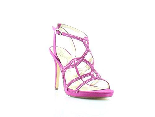 Fuschia Satin Sandals (Nina Roxane Capri Fuschia Sandal, 6 M US)