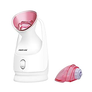 KINGDOMCARES Steamer Warm Mist Moisturizing Facial Steamer Unclogs Pores Clear Blackheads Acne Suction Face Humidifier Hydration Atomizer Salon Skin Care Home Sauna SPA System Pink