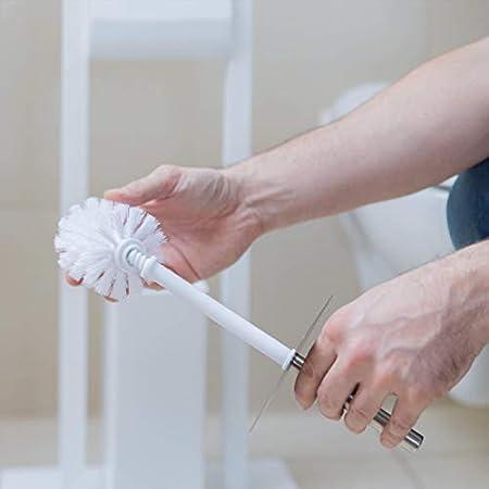 Depory Set 5 Spazzole per Scopino da Bagno Ciuffo di Ricambio Spazzolone WC Filetto 9 12mm Diametro 7 cm Bianco